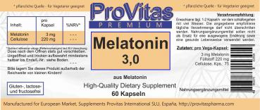 Melatonin, 60 Kaps.,  3 mg