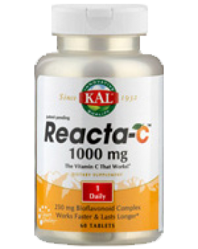 Vitamin C Reacta C 1000 mg plus Bioflavonoide, 60 T, KAL