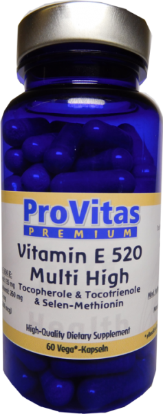 Vitamine E 520 Complex Multi High, 520 iE, 60 Vega Kps.