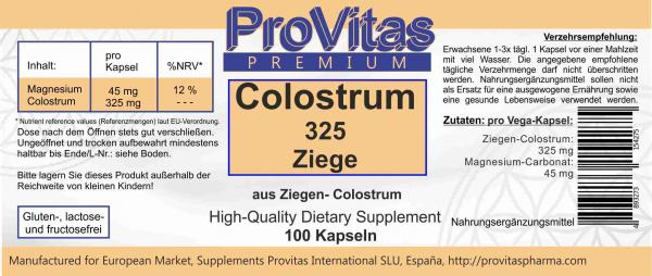 Colostrum (Ziege) á 325 mg 100 Vega Kps.